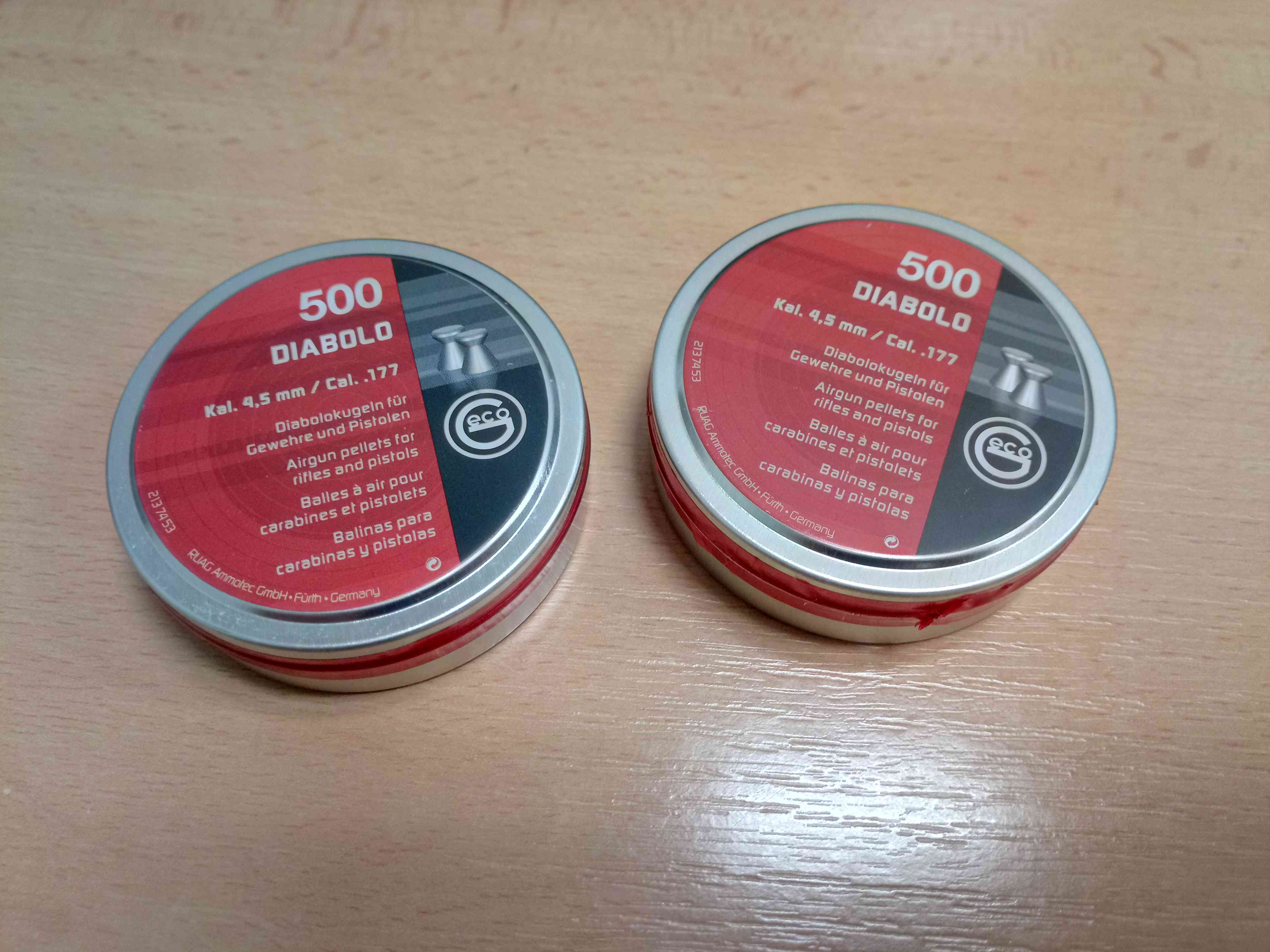 Diabolo GECO BASIC 500ks 4,5mm cal. 177