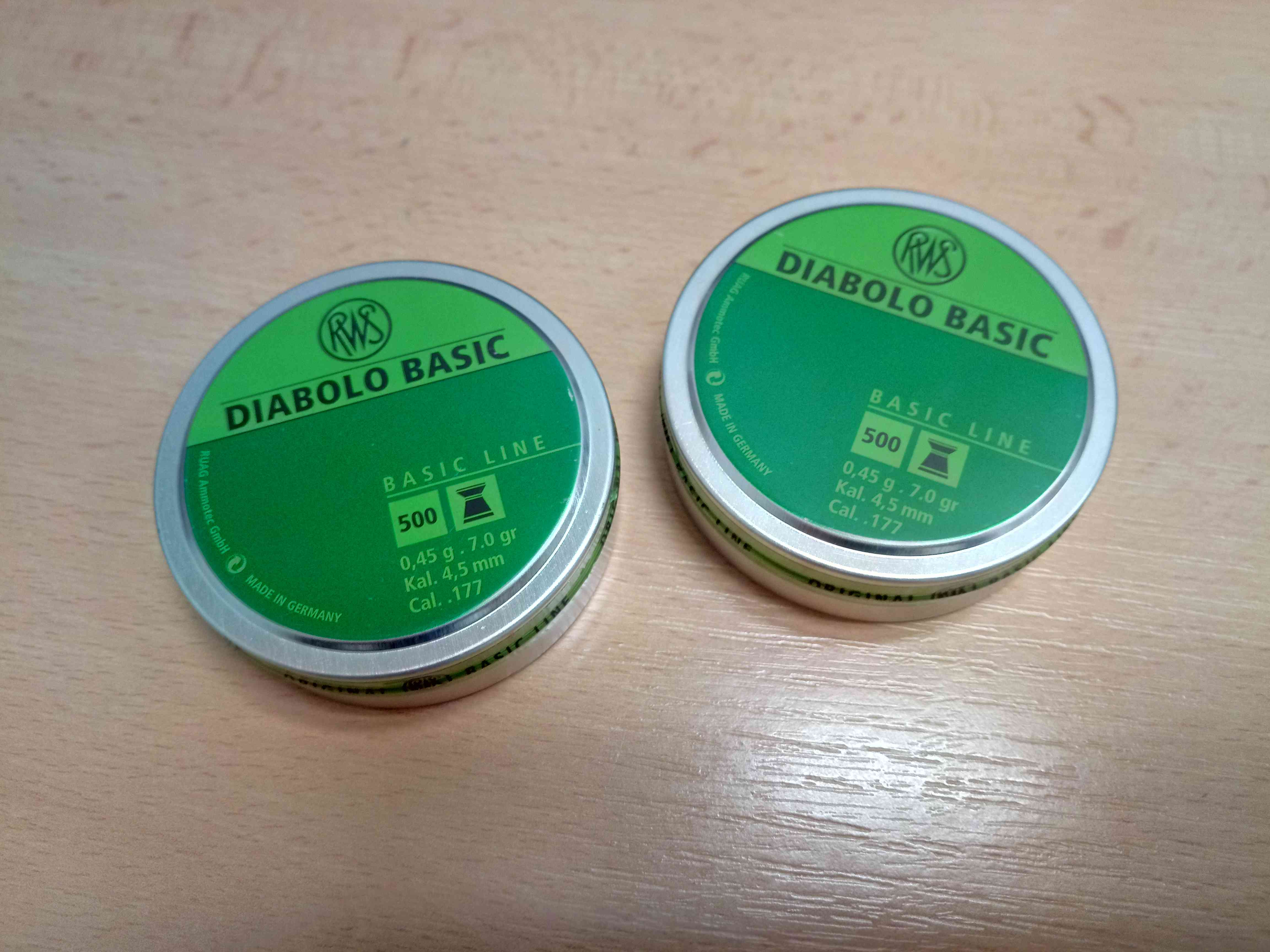 Diabolo RWS BASIC 500ks 4,5mm cal. 177