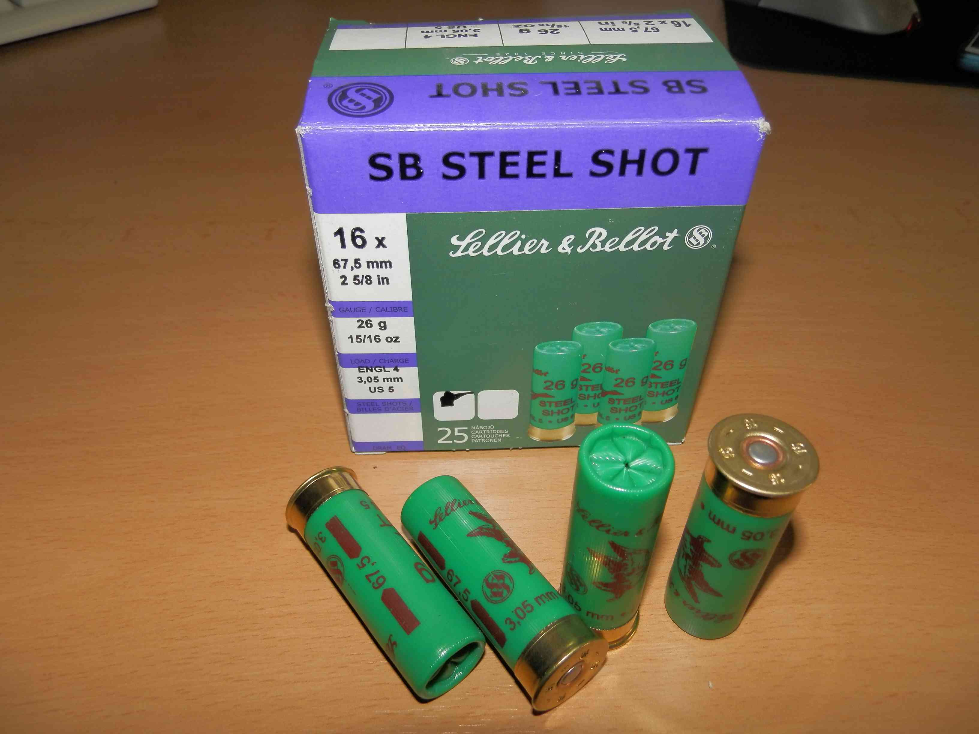 16/67,5 SB STEEL SHOT 3,05mm